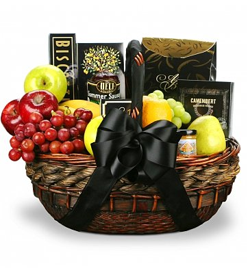 Food & Fruit Baskets: In Their Honor Fruit and Gourmet Basket