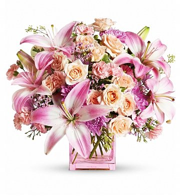 Flower Bouquets: Pretty Pinks for New Baby Girl
