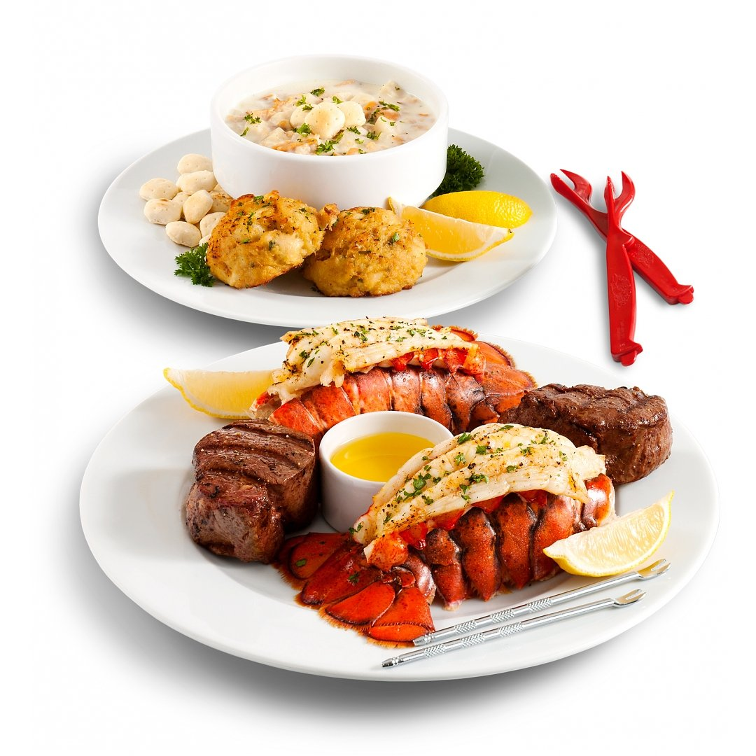 Gourmet Gift Baskets: Filet Feast and Maine Lobster Tails Dinner