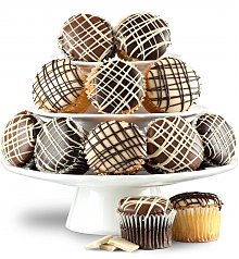 -Dropship: Gifts: One Dozen Chocolate Dipped Cupcakes