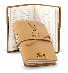 Personalized Keepsake Gifts: Personalized Leather Bound Golf Log