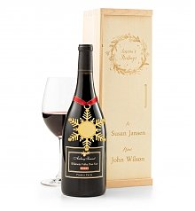 Wine Gift Crates: Season's Greetings Red Wine Crate