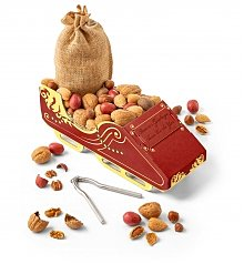 Gourmet Gift Baskets: Sleigh Ride Nuts and Nutcracker