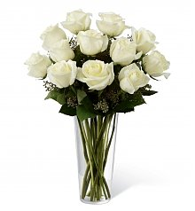Funeral Flowers: White Rose Bouquet