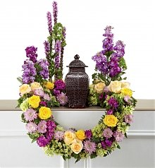 Funeral Flowers: Garden Of Grace Arrangement
