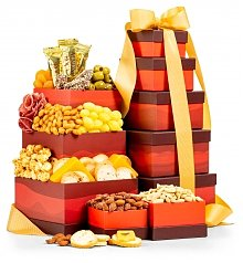 Gift Towers: Cheese and Nuts Snack Tower