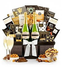 Champagne Baskets: Celebrate & Share