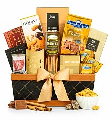 Gourmet Gift Baskets: Golden Gourmet Enjoyment