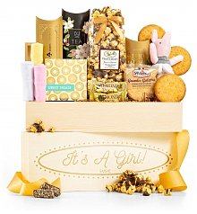 Personalized Keepsake Gifts: It's A Girl Personalized Crate