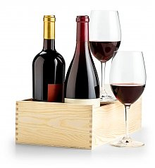 Wine Gift Crates: Luxury Red Wine Collector's Duo