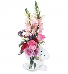 Flower Bouquets: Bear Hug for a Job Well Done