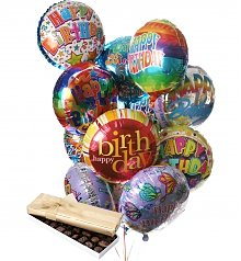 Balloons & Chocolate: Birthday Balloons & Chocolate-12 Mylar