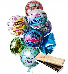 Balloons & Chocolate: Thank You Balloons & Chocolate-12 Mylar