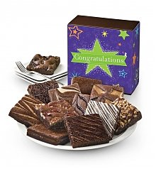 Cakes and Desserts: One Dozen Congratulations Brownies