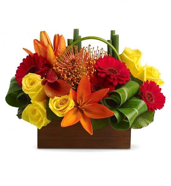 Magnificent Tropical Bouquet Flowers Adornment - Best Evening Gown ...