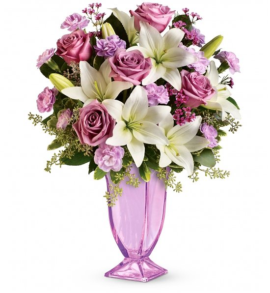 mother's day lavender radiance bouquet flower bouquets  a, Beautiful flower